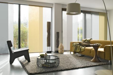 panel oriental telas mixtas living